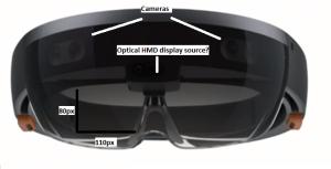Figure 2: HoloLens Front Dimensions